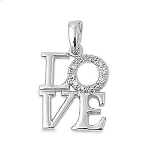 Diamond-LOVE-Pendant-Necklace-set-in-the-Finest-Sterling-Silver-Silver