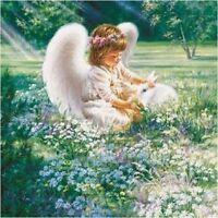 Baby Angel With White Bunny Rabbit Image Coasters Sets U Pick Set Size