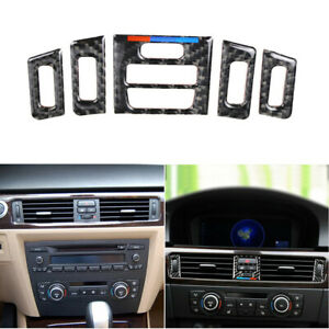 5pcs-Car-Carbon-Fiber-Air-Vent-Outlet-Trim-Frame-Cover-Decor-For-BMW-E90-E92-E93