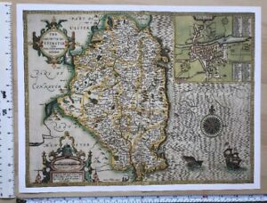 Map Of Ireland 1600.Details About Old Antique Tudor Map Leinster Ireland Inc Dublin Speed 1600 S 15 X 11 Reprint