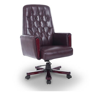 Homcom Office Chair High Back Reclining Pu Leather