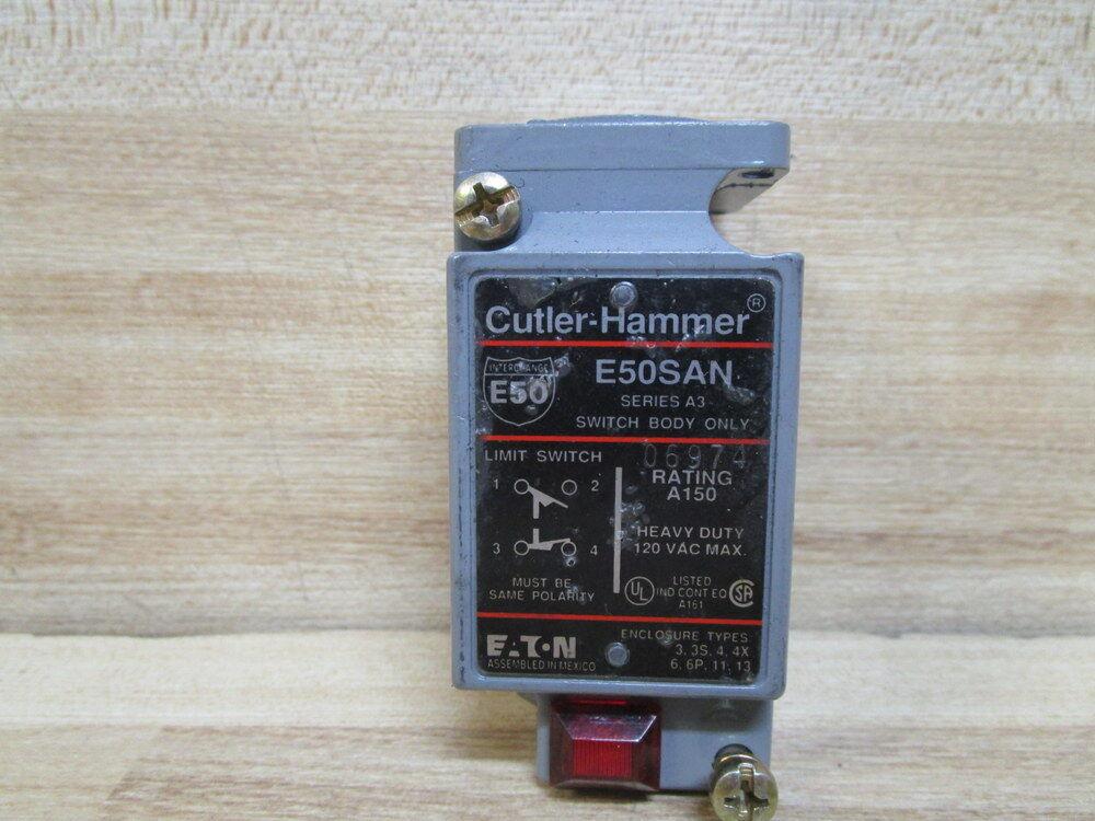 Cutler Hammer E50SAN Eaton Limit Switch Body Series A3 | eBay