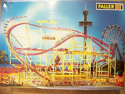 NEW ! HO Faller 140451 Big Dipper Roller Coaster Ride : Circus Building KIT