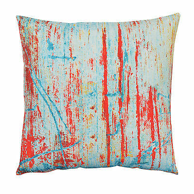 Abstract Graffiti Cushion Cover - 45cm pillow blue red rustic art decor textile
