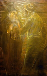 """perfect 24x36 oil painting handpainted on canvas """"Robbery""""@NO5586"""