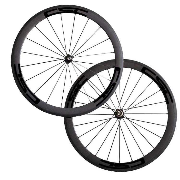 CSC 23 Wide 50mm Clincher carbon bike wheels Novatec A271SB hub+ aero spokes