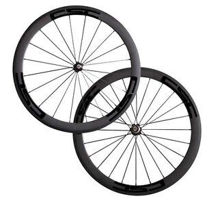 Csc 23 Wide 50mm Clincher Carbon Bike Wheels Novatec A271sb Hub