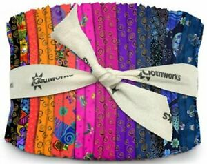Clothworks-Laurel-Burch-Feline-Frolic-Jelly-Roll-40-Strips-2-5-034-x-43-034-44-034-ea
