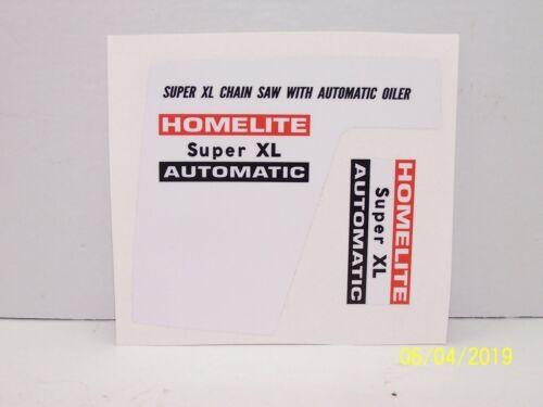 Homelite Super XL Automatic 2 Piece Decal Set !!!!