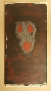 Details About Abstract Painting Dark Meduim Face Original One Of A Kind