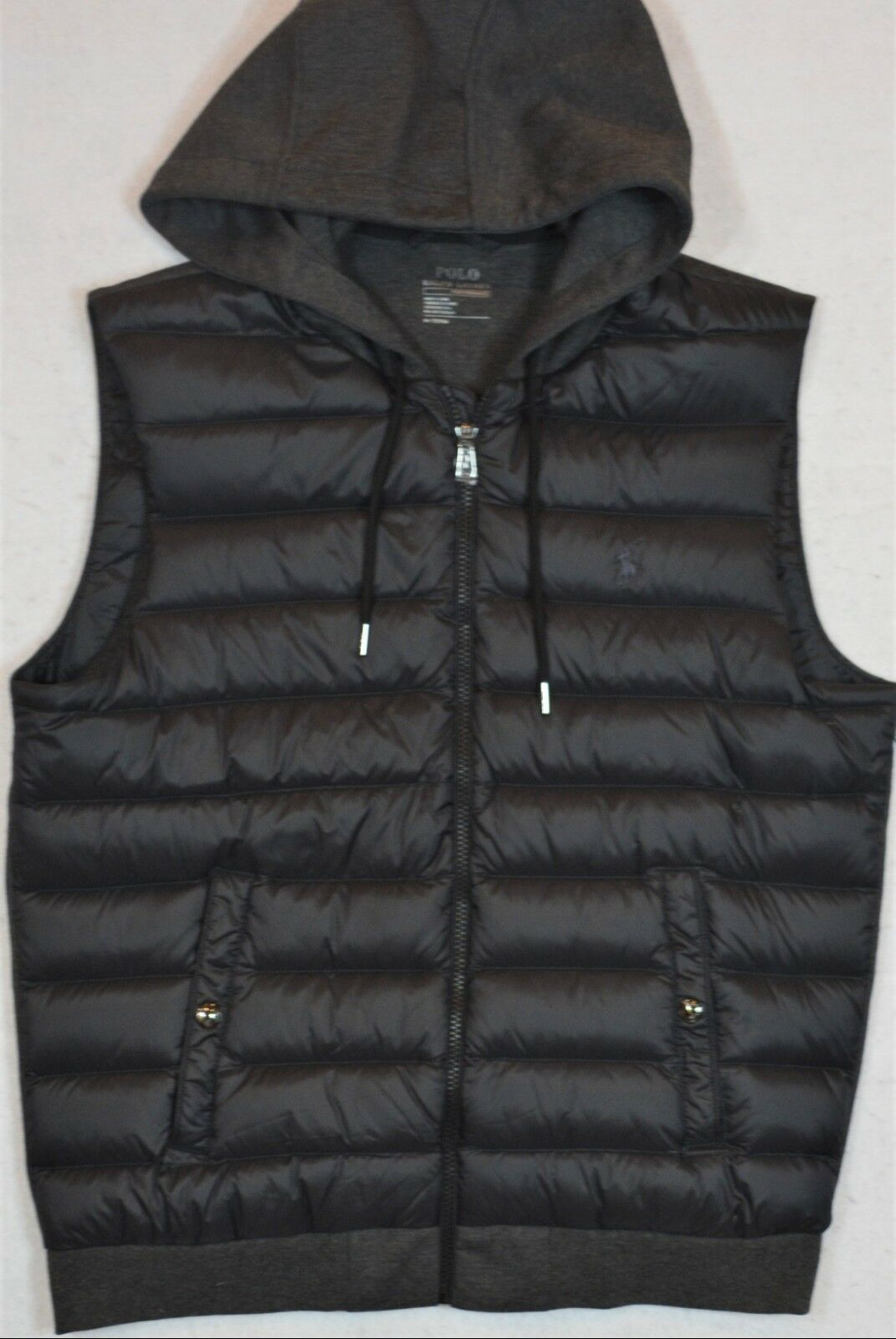 Polo Ralph Lauren Performance Down Quilted Hooded Vest L Large NWT 145