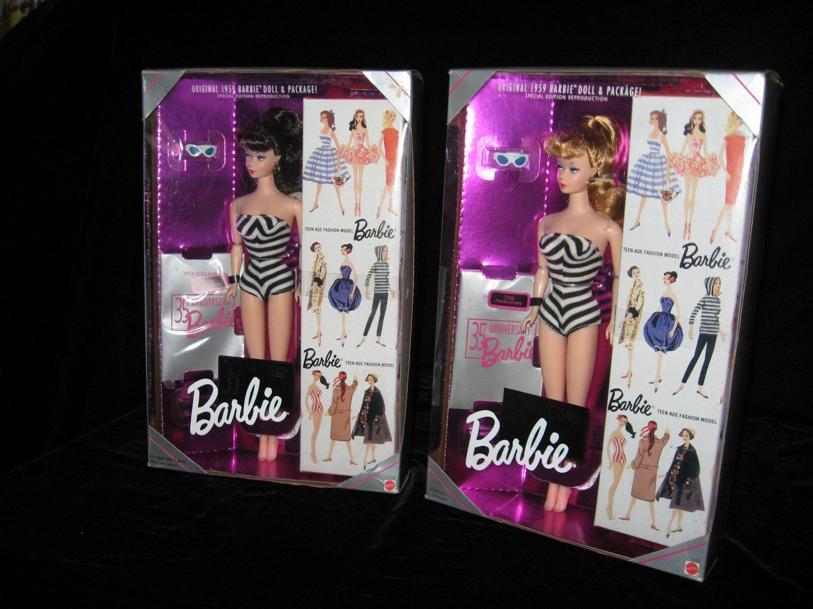 Barbie 35th Anniversary Special Edition Blond and Brunette Barbie Lot
