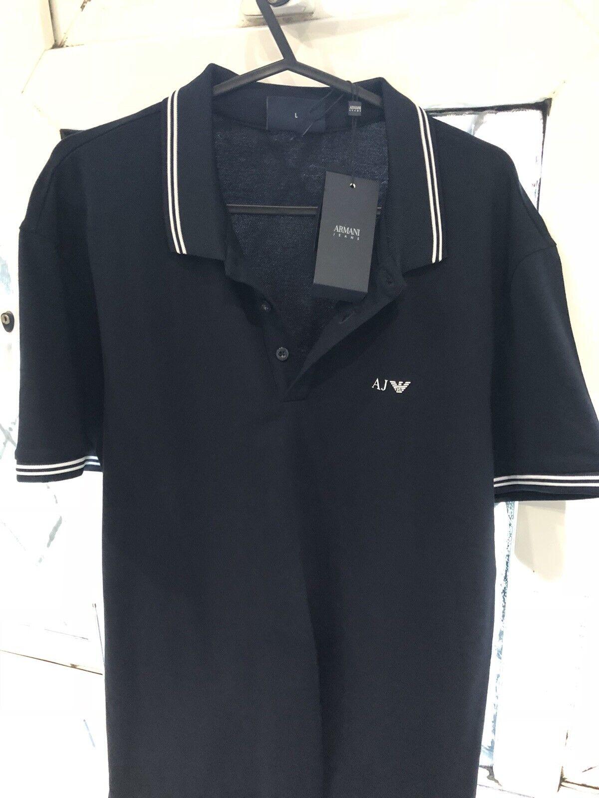 Armani Jeans - AJ - Men's Polo Shirt - Navy - BRAND NEW ...