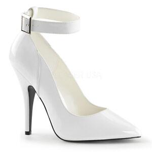 Pleaser SEDUCE-431 Women's White Patent