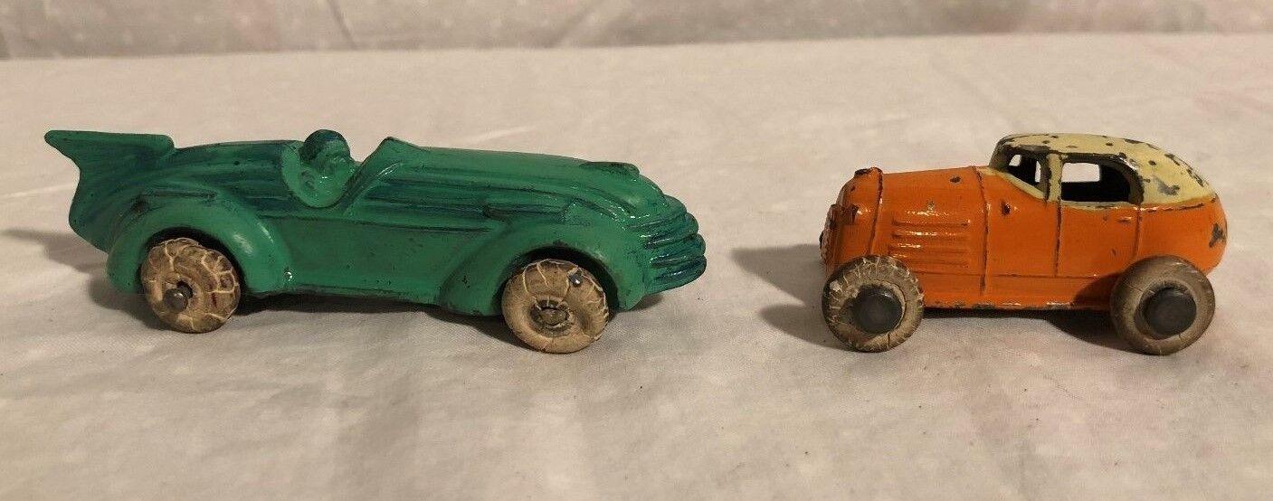 Kansas Toy Barclay Racers Pair Race Cars 1940s Very Nice RARE