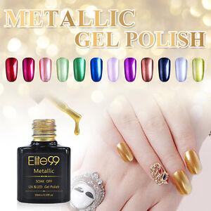 Elite99-Soak-Off-Metallic-Nail-Gel-Polish-UV-LED-Metal-Base-Top-Coat-Manicure