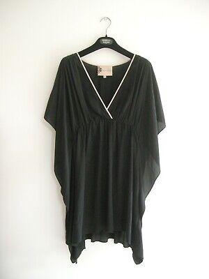 Silk Crepe Fits Size10-12-14-16-18 Shirt Blouse Embellished Kaftans Top