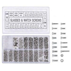 1000-Stueck-Edelstahl-Brillen-Uhr-Reparatur-Schraube-Ersatz-Kit-Set-Winzige-S-vz