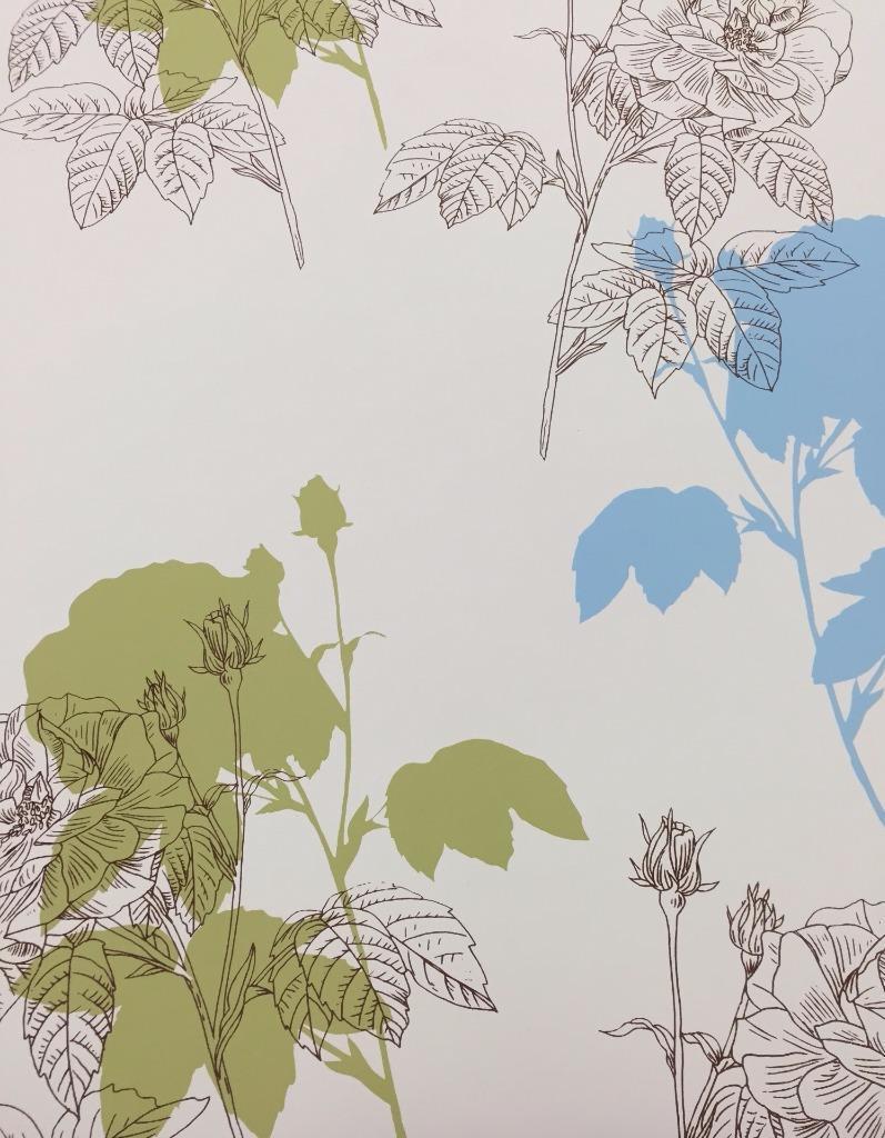 Wallpaper Designer Modern Large Brown Floral With Sage And Light
