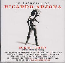 NEW - Lo Esencial De Ricardo Arjona CD 3 CDs + 1 DVD  NUEVO y Mas SEALED