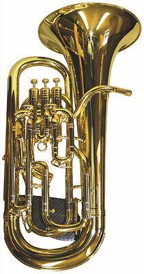 Brass-Fix Uk Long Brass Lacquered Lyre Music Holder For Horn Tuba,Euphonium,Baritone