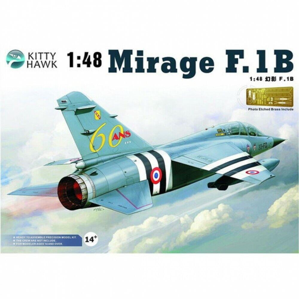 VOLKS Kitty Hawk 1 48 Mirage F.18 F.1B Plastic Scale Model Kit Hobby