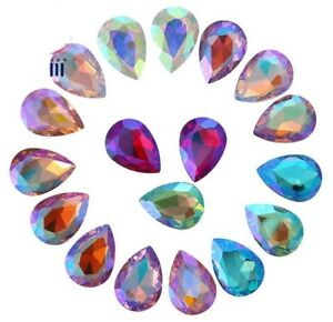 80PCS-20Pcs-Mixed-Colors-AB-Pointed-Teardrops-Fancy-Glass-Stones-Various-Sizes