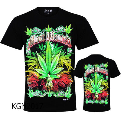 New Men T-Shirt Ganja Cannabis Marijuana  Ganja Leaf Spliff Weed Rasta