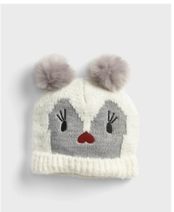 54498a141f8 Image is loading GAP-KIDS-GIRL-CRITTER-POM-BEANIE-HAT-NWT-