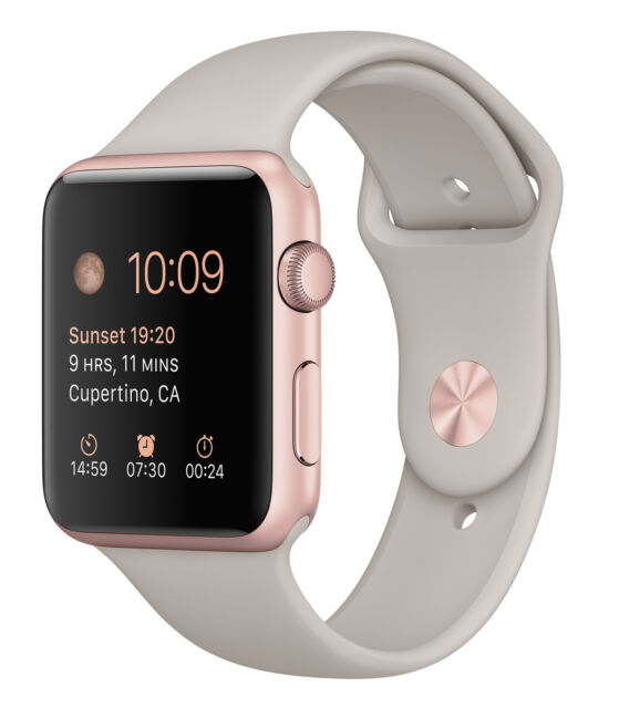 Apple Watch Sport 42mm Rose Gold Case Stone Sport Band Mlc62ll A For Sale Online Ebay