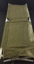 ABBOTT Military Green Fold Up Portable Field Bed Cot Camping Nylon See Listing