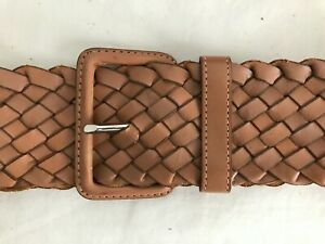 Club-Monaco-Wide-Braided-Leather-Belt-Size
