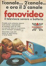 X9760 Fonovideo il Tv sonoro a batterie - HARBERT - Pubblicità 1975 - Advertis.