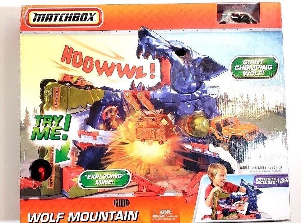 NIB SEALED Matchbox Wolf Mountain 2009 Playset Retired NEW