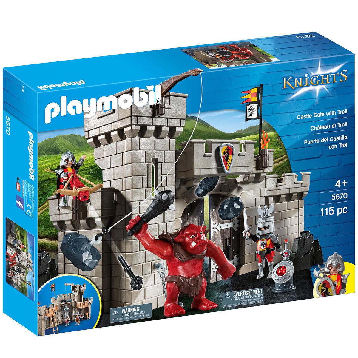 PLAYMOBIL 5670 5670 5670 Knights Burgtor mit Riesentroll NEU OVP bc4006