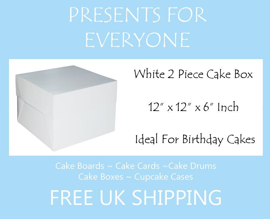 20 x 12  x 12  x 6  Inch Weiß Cake Box Birthdays Weddings