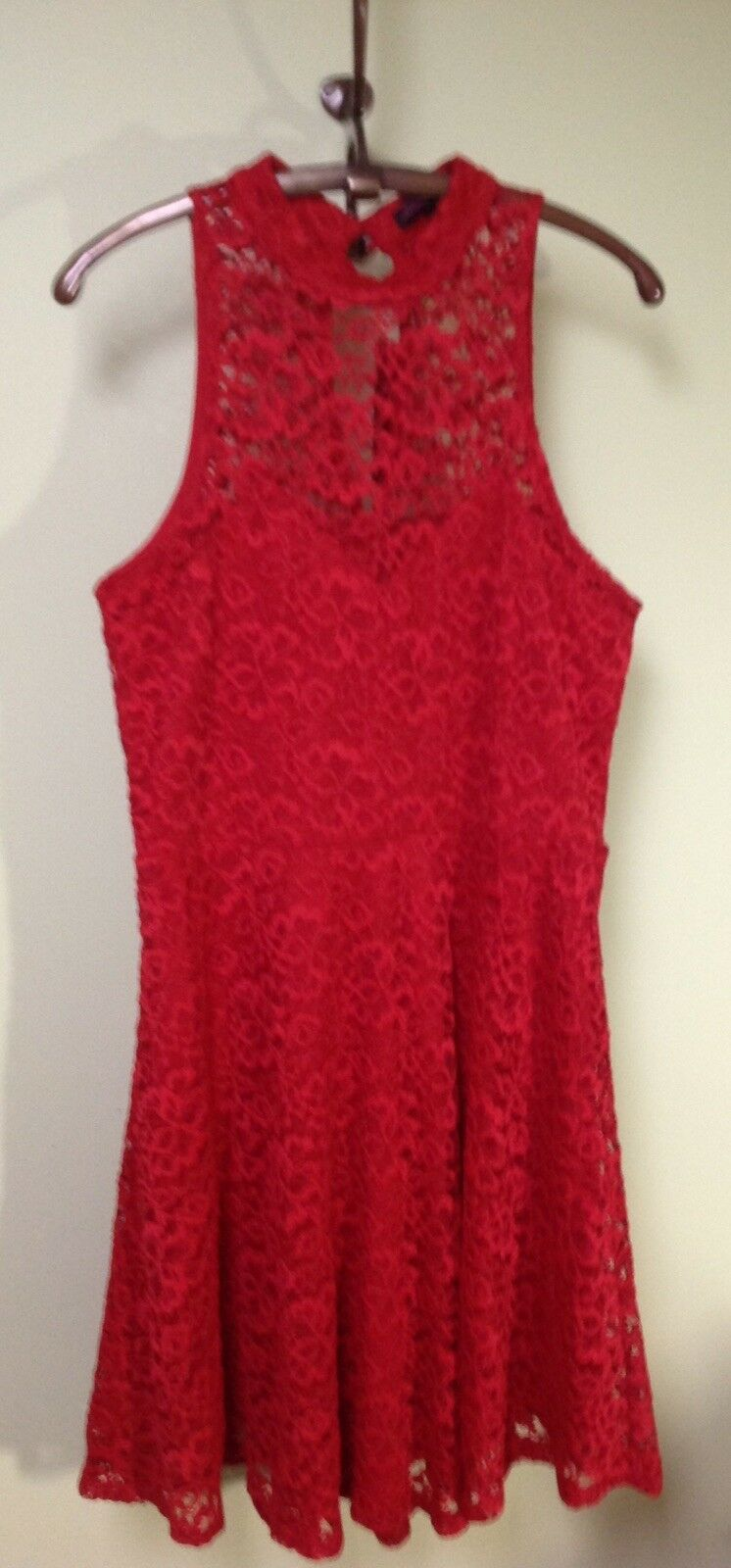 NWTMATERIAL GIRL Red Lace Dress Fit & Flare JuniorsLSexy 49.50 RMust C