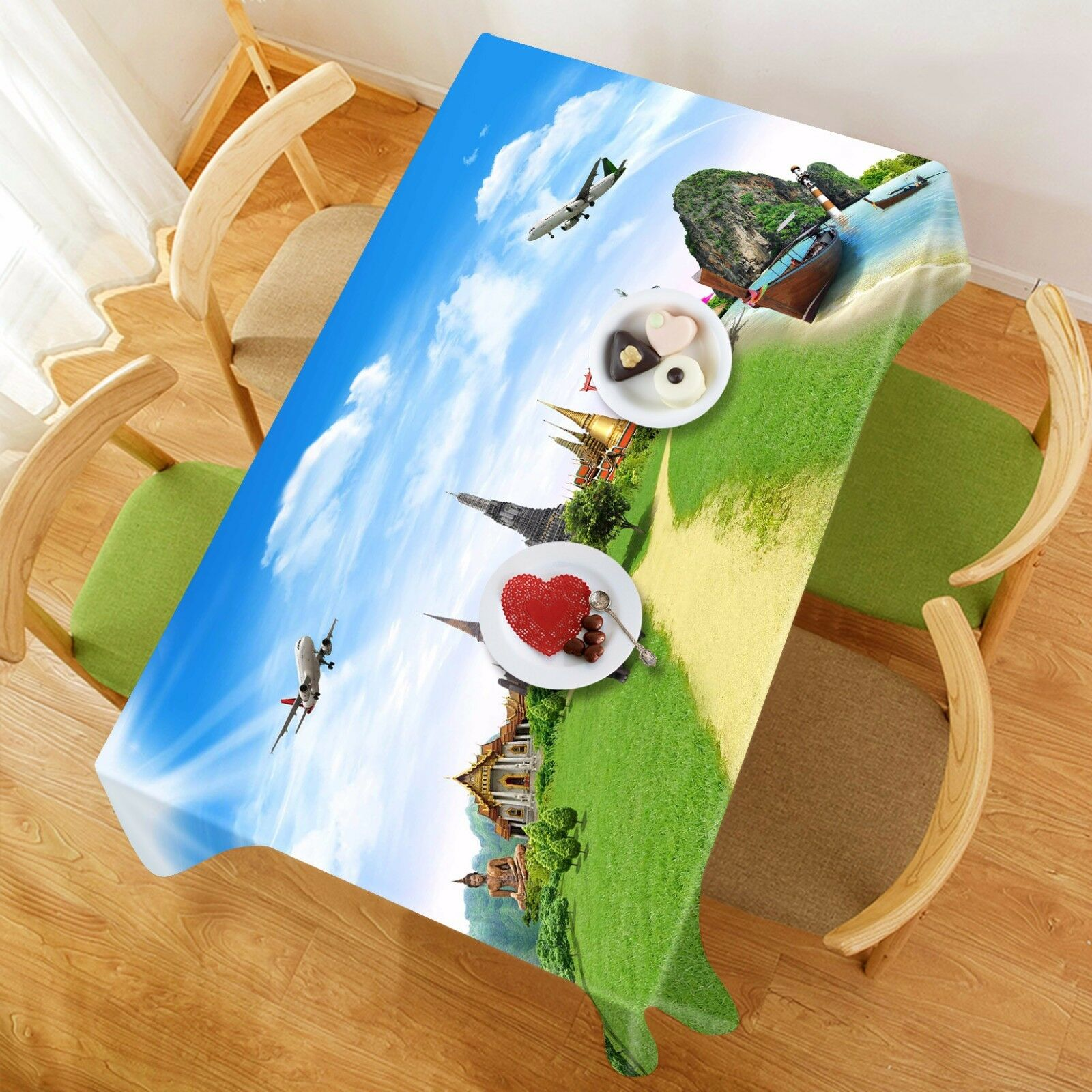 3D Earth 858 Tablecloth Table Cover Cloth Birthday Party Event AJ WALLPAPER AU