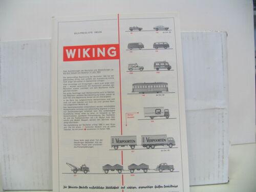 "Wiking imagen-lista de precios /""catálogo/"" 1983//84 top-Estado"