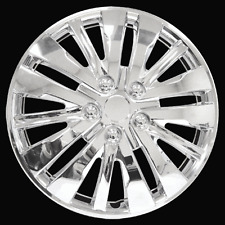 """New Chrome 16"""" Inches Wheel Cover Hub Caps Full Set Of  4 EZ Snap In Accesories"""
