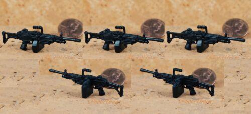 GI Joe 1//18 Action Figur 3.75 US Military M249 Light Machine Gun LMG G19/_F 5pcs