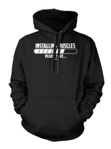 Gym Workout Exercise Hoodie Sweatshirt Installing Muscle…Please Wait