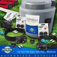 Petsafe Wireless Fence Pif-300 Black Dog Collar Receivers 2-dog System