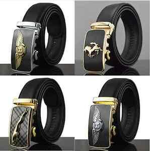 10834490b7b0 Limited Edition Mens Black Leather Belt with Bentley Ferrari Gold ...