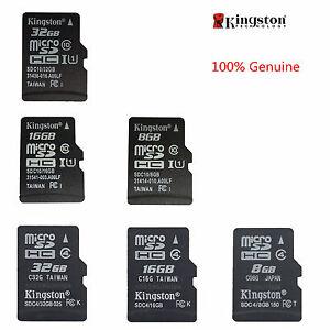 Kingston-MicroSD-SDHC-8GB-16GB-32GB-TF-C4-C10-Memory-Card-Memoria-f-Phone-Tablet