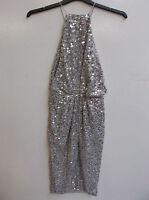 ASOS Iridescent Drape Back Midi Pencil Dress UK 6 US 2 EUR 34 RRP £85 (ca76)