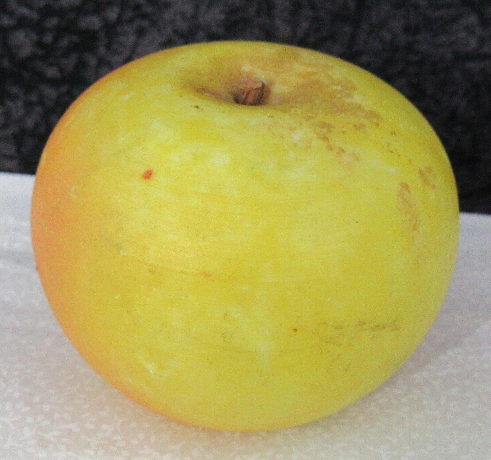 Antiguo Original De Mármol Italiano Piedra De Alabastro fruta 2 5 8  Apple wood stem