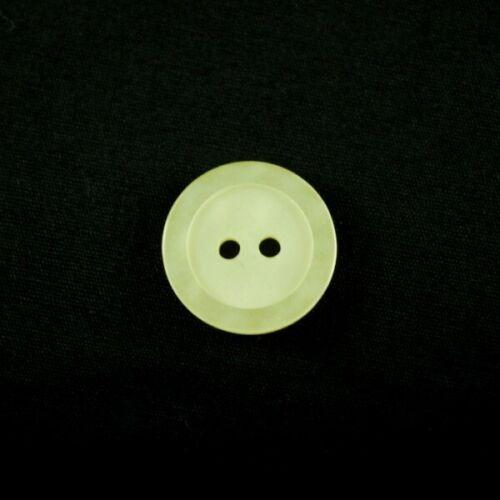 Buttons 10 x 14mm Classic Style Metallic Dish Acrylic Plastic