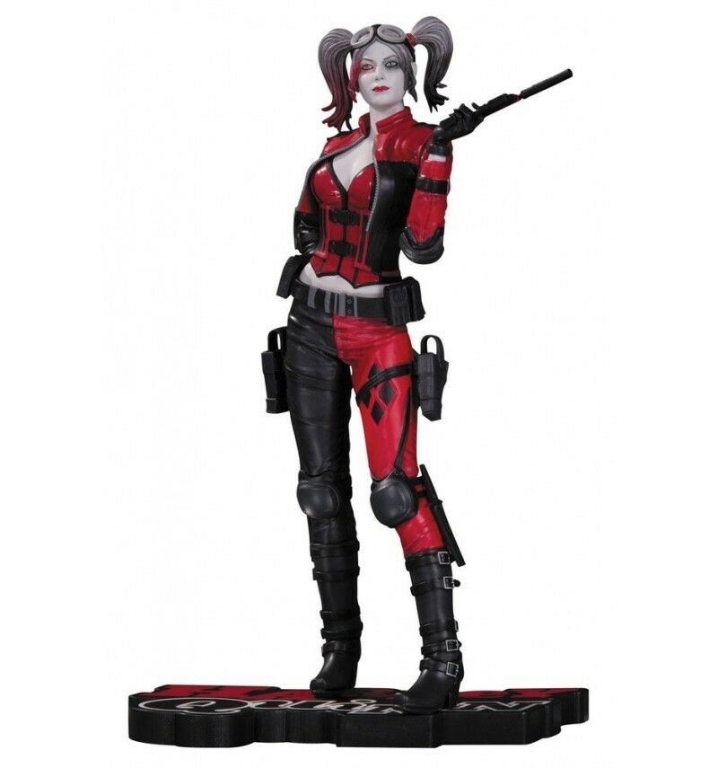 DC Direct Statue Harley Quinn rot Weiß and schwarz schwarz schwarz statue Injustice 2 017842