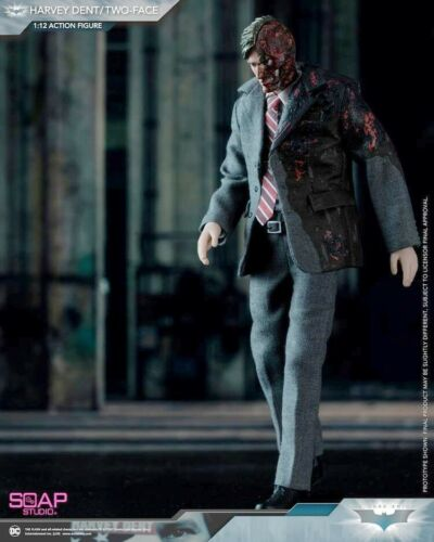 "Hot Soap Studio 1//12th Scale Dark Knight Batman Two-Face Harvey 6/"" Figure Toys"